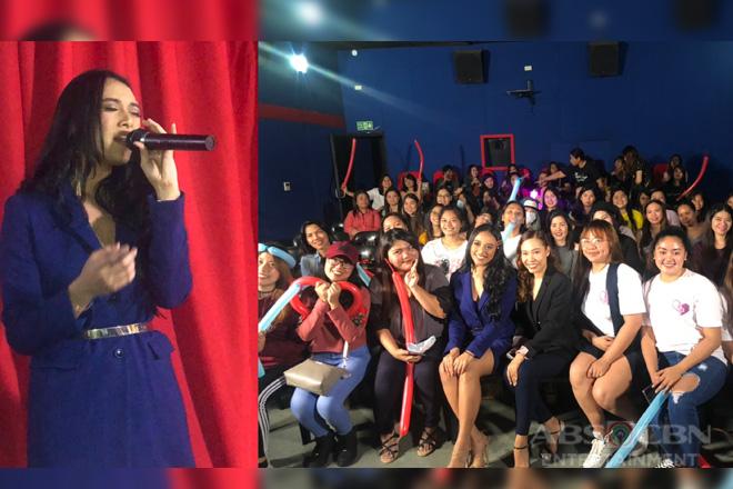 LOOK: PBB Otso housemate Shawntel Cruz at the advance screening of 'Gangnam Beauty'